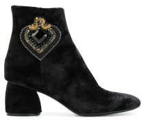 heart embellished boots