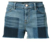 Karierte Jeans-Shorts