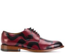 Derby-Schuhe mit Pinselstrich-Effekt