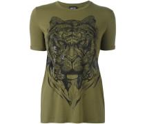 'tiger' print T-shirt