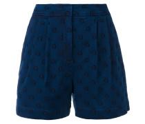 Jeans-Shorts mit Sternenstickerei