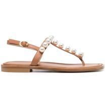 Goldie Sandalen mit Kunstperlen