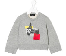 'Hiking Team' Sweatshirt mit Print