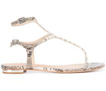 'Galey' Sandalen mit Schlangenleder-Optik