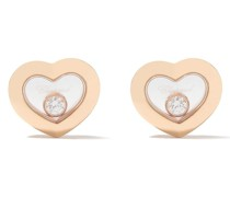 18kt 'Happy Diamonds Icons' Rotgoldohrstecker