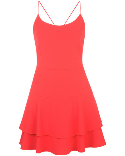 Palmira ruffle-hem mini dress