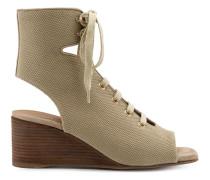 Wedge-Sandalen mit Schnürung