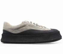 Wildleder-Sneakers mit vulkanisierter Sohle