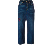 Cropped-Jeans mit lockerer Passform