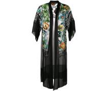floral embroidered sheer kimono - women