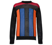 striped pointelle jumper