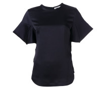 T-Shirt mit strukturierten Ärmeln