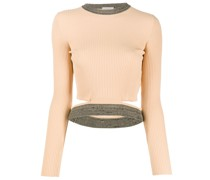 Geripptes Cropped-Top