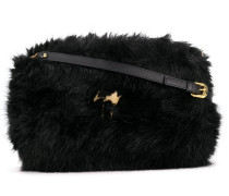 Shearling fur shoulder bag