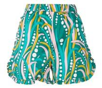 Shorts mit gerüschten Details