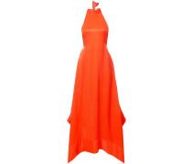 Neckholder-Kleid mit asymmetrischem Saum