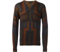 Wollpullover mit geometrischem Muster