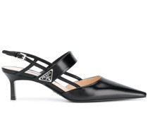 point-toe leather pumps