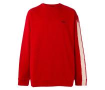 Sweatshirt mit Kontrastärmeln - men - Baumwolle