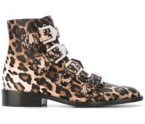 Stiefeletten mit Leoparden-Print