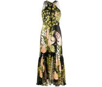Neckholder-Kleid mit Schmetterlingen