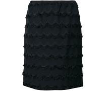 knee length fringed skirt