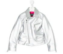 Bikerjacke in Metallic-Optik
