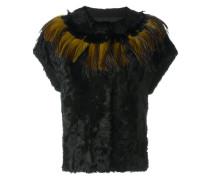 Shearling-Jacke mit kurzen Ärmeln
