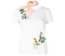 T-Shirt mit Vogelstickerei