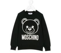 Sweatshirt mit Teddy-Bär-Print