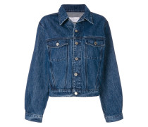 frill detail denim jacket