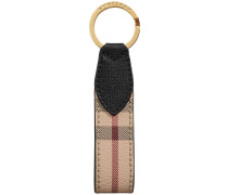 Haymarket Check and Leather Key Ring