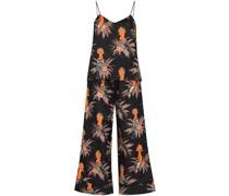 Weiter Pyjama mit Marginata-Print