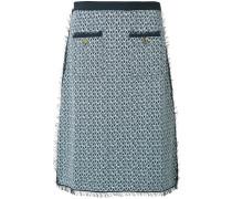 Tweed-Bleistiftrock mit Vordertaschen