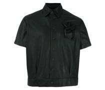 Cropped-Jacke mit Kordelzugtasche