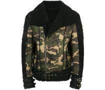 camouflage leather jacket