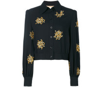 embroidered cropped shirt