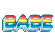 'Babe' Sticker - women - Ziegenleder