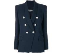 button detail blazer