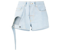 Offene Jeansshorts