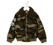 Camouflage-Jacke mit Kontrastkragen