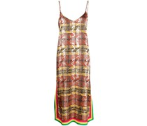 Kleid mit durchgehendem Print