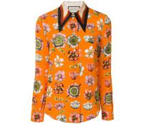 floral oversized collar shirt