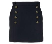 buttoned short skirt
