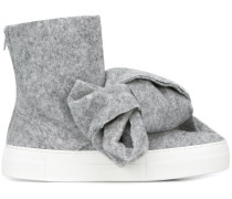 Stiefel mit Oversized-Schleife