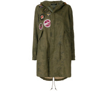 patched classic midi parka