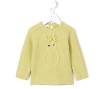 Pullover mit gesticktem Detail - kids - Wolle