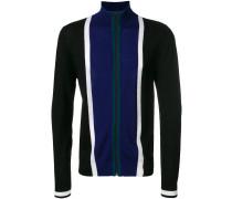 Merino-Jacke mit kontrastierenden Streifen