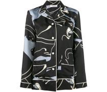 Seidenhemd mit Panther-Print - women - Seide - S