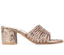 Sandalen mit Print, 65mm